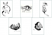 Cat Series 3 Greeting Cards