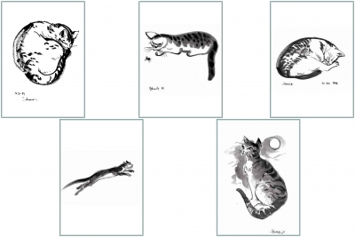 Cat Series 2 Greeting Cards